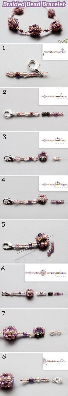 Nice beaded bead chain or bracelet, you can use different or other beads than used in this pattern