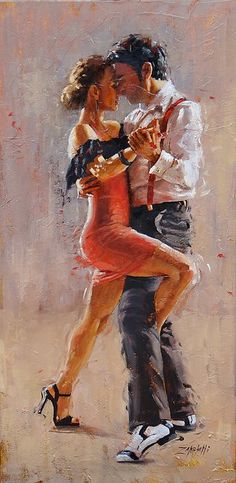 The History of Tango Music is fascinating, with many unexpected twists and turns, and filled with fabulous characters. Tango is as old as Jazz, and the variety of the music is as wide. Art Triste, Tango Art, Tango Dancers, Dance Paintings, Canvas Art, Canvas Prints, Argentine Tango, Laura Lee, Oeuvre D'art