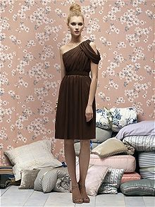 Stunning dark brown in Lela Rose is perfect for a fall or winter wedding