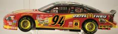 2000 - Action / NASCAR - Bill Elliott #94 - McDonald's - Ford Taurus - 1:24 Scale Die Cast Bank - Numbered #1167 - Clear Windows - Rare - Out of Production - Limited Edition - Collectible by Action. $39.95. New - Limited Edition - Collectible / No Box. 2000 - Action / RCCA - NASCAR. Out of Production - Rare - Clear Windows. Bill Elliott #94 - McDonald's Drive Thru - Store Display Stock. Ford Taurus - 1:24 Scale Die Cast Bank w/ Key. 2000 - Action / RCCA - NASCAR - Bill Elli...