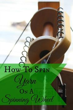 Learn how to spin yarn with a spinning wheel with this easy picture tutorial. How To Spin Yarn With A Spinning Wheel | areturntosimplicity.com