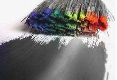 ... and white, brush, colour, colour