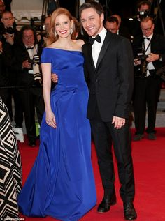 Cannes 2014 Jessica Chastain and James McAvoy at red carpet premiere