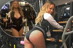 Mariah Carey Hits The Gym In Fishnet Stockings And Stiletto Heels