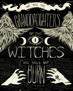 Vinyl Sticker We are the Granddaughters Witchy Mantra Magick, Witchcraft, Dark Romance, Maleficarum, Modern Witch, Witch Aesthetic, Practical Magic, Book Of Shadows, Grafik Design
