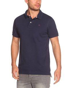 Tommy Hilfiger Herren Polo Shirt Polo Shirt, Polo - Blau (Peacoat) - Medium (Herstellergröße: Medium)