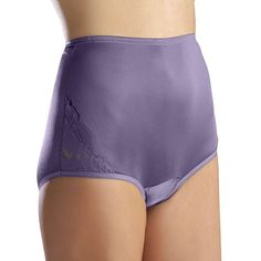 Vanity Fair Perfectly Yours Lace Nouveau Brief 13001 - Women's, Purple Oth