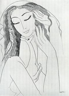 Стена | ВКонтакте  Ладо Гудиашвили. «Портрет балерины Галины Улановой».