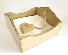 Rustic Beige Wood Napkin / Serviette Holder by chocberryavenue, $30.00