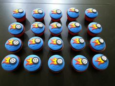 Cupcakes Hot Wheels Hot Wheels Party, Hot Wheels Cake, Hot Wheels Birthday, Cupcake Photos, Cupcake Images, Cupcake Ideas, Car Themed Parties, 6th Birthday Parties, Cupcakes For Boys