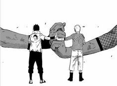 And so they fought. And so they laughed. Friends. Before they knew it, they were inseparable. #narusasu