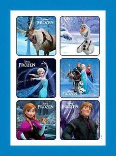 12 Frozen Olaf Anna Elsa Disney Movie Stickers Party Favors + Snowflake Tattoo #BirthdayChild