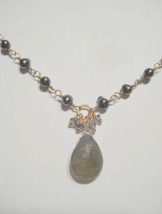 Wrapped silver pearls with labradorite Silver Pearls, Labradorite, Pendant Necklace, Jewellery, Jewelery, Jewelry Shop, Jewlery