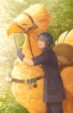 Noctis + Chocobo (small print) sold by driftwoodwolf. Shop more products from driftwoodwolf on Storenvy, the home of independent small businesses all over the world. Final Fantasy Artwork, Final Fantasy Vii Remake, Fantasy Paintings, Fantasy Series, Noctis, Fan Art, Anime, Images, Costumes