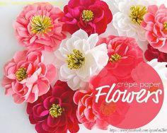 Minh Handmade: Crepe paper flower tutorial