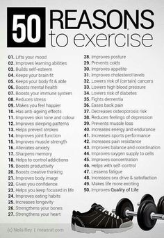 50 Reasons to be healthy and fit. Be Healthy. Healthy Motivation