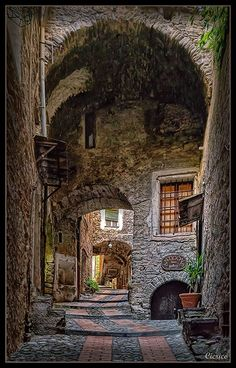The question is: is this a photo or a painting?-Medieval Village of Dolceacqua, Italy Places Around The World, Oh The Places You'll Go, Places To Travel, Places To Visit, Around The Worlds, Italy Vacation, Italy Travel, Wonderful Places, Beautiful Places