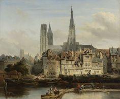Rouen (France), Paris Quai, by Johannes Bosboom, 1839