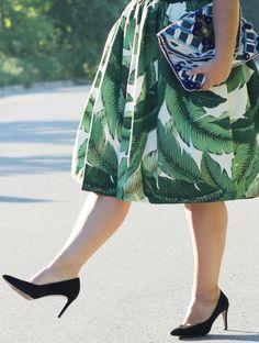 Last Days of Summer ⋆ torontoshopoholic  palm print, party skirts, antik batik…