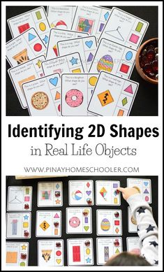 Identifying 2D shapes in real life objects #preschool #homeschool #math #shapes