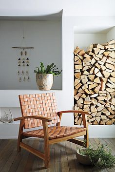 Leather Loom Armchair