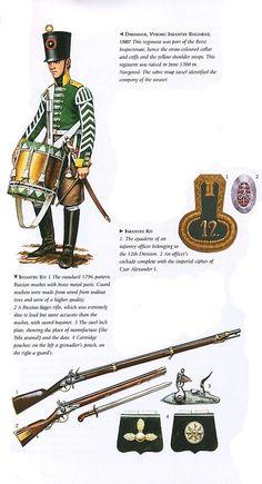 Барабанщик Выборгского пехотного полка 1807 г.