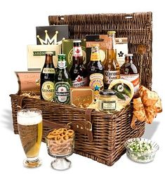 International Beer Basket - I got one of these as a gift once. I loved it. One a week would be nice.