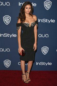 Nina Dobrev at Golden Globes 2014
