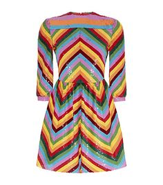 Exclusive Valentino dress. Valentino Chevron Sequin Dress in Multicolour available only at Harrods. Shop Valentino dresses online with Free Returns on UK orders