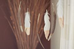 DIY Tutorial: Gold Dipped Feathers