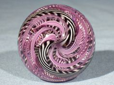 Marbles: Hand Made Art Glass James Alloway Dichroic Marble #1825  1.8inch #Contemporary