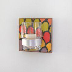 HILLS:  modern colorful wall mount flower vase. 48.00, via Etsy.