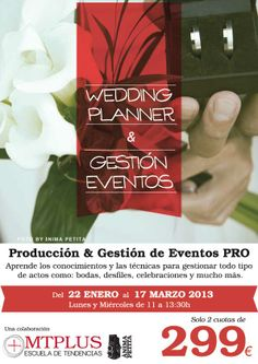 Campaña Curso Profesional Wedding Planner y Gestión Eventos, edición Jan/14