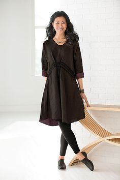 Mercer Dress by Cynthia Ashby: Linen Dress available at www.artfulhome.com