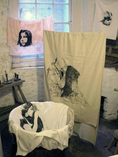 Magali Rizzo - Haunted Wash House - embroidery installation WOW