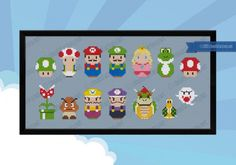 Super cute Mario & Friends cross stitch