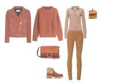 """FW D JEANS, BD SHIRT, SWEATER, JACKET, BOOTS - TERRACOTTA"" by laliquemurano on Polyvore featuring Bobi, AG Adriano Goldschmied, Acne Studios, Dsquared2, Montelliana and Chloé"