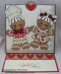 Pocket Easel Card with Recipe Card inside...By:paperpunchaddiction