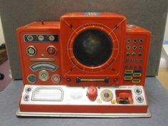 50s Space Age Style: Toy Satellite Tracking Station, Masudaya Toy Company