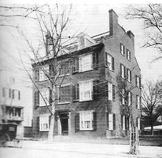The Old Clubhouse, Secretary of State William Seward's home was located in what is now Lafayette Park across from the White House.