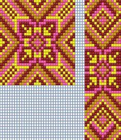 """Pink Slavic Ornament"" Pattern for Loom beadwork - pendant and strap  #heartbeadwork  #loombeading"