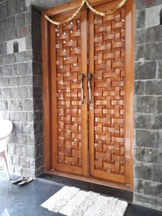 Are you looking for the best wooden doors for your home that suits perfectly? Then come and see our new content Wooden Main Door Design Ideas. Wooden Double Doors, Wooden Front Door Design, Modern Wooden Doors, Double Door Design, Wood Front Doors, Modern Door, Entry Doors, Pooja Room Door Design, Door Design Interior