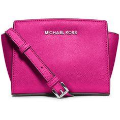 MICHAEL Michael Kors Selma Mini Saffiano Messenger Bag ($190) ❤ liked on Polyvore