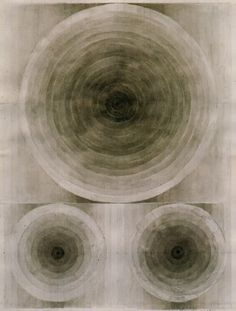 Eva Hesse, Untitled, 1966, Black ink wash and pencil