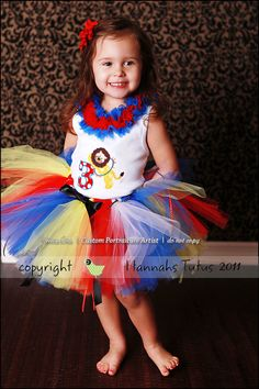 Going to Circus TUTU Circus Birthday Party Carnival Baby Toddler 1 2 3 4 Years Custom Made to order. $28.00, via Etsy.