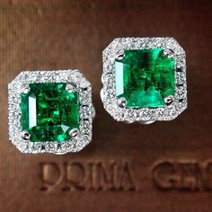 Magnificent Prima Gems 2.19ct&2.09ct Emerald, matched for size and color…