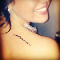 Ohana tattoo, love this font!
