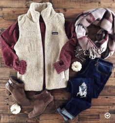 Fall outfits cute outfits for fall, winter outfits warm casual, preppy fa. Cute Fall Outfits, Fall Winter Outfits, Autumn Winter Fashion, Casual Outfits, Country Outfits, Fall Fashion Vest, Tumblr Fall Outfits, Winter Style, Casual Wear