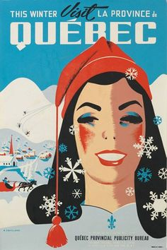 Top 10 Things to do in Quebec this Winter Season. Find out the wide range of winter activities in Quebec City. Ski Vintage, Vintage Ski Posters, Photo Vintage, Retro Poster, Vintage Photos, Gaudi, Old Posters, Sports Posters, Posters Canada