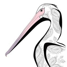 The second animal of the new series is Mr. Pelican White.